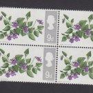 GB QE II Stamp 1967 Flowers 9d Blk 4 UM PHOS SG721P Mauritron 78108