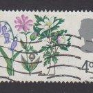 GB QE II Stamp 1967 Flowers 4d MFU SG718 Mauritron 78113