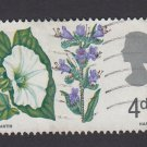 GB QE II Stamp 1967 Flowers 4d MFU PHOS SG720P Mauritron 78114