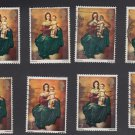 GB QEII Stamp. 1967 Christmas 4d. Set 8 UFU SG757 Mauritron #78128