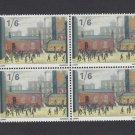 GB QEII Stamp. 1967 Paintings 1/6d BLK 4 UM SG750 Mauritron #78132