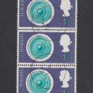 GB QEII Stamp. 1967 Discovery 1/- BLK 3 MFU SG753 Mauritron #78139