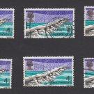 GB QEII Stamp. 1968 Bridges 4d MFU 6 Examples SG763 Mauritron #78146