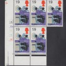 GB QEII Stamp. 1967 Discovers 1/9d BLK 5 UM SG755 Mauritron #78158