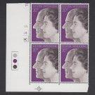 GB QEII Stamp. 1972 Silver Wedding 20p BLK 4 UM SG917 Mauritron #78161