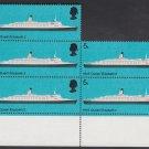 GB QEII Stamp. 1969 Ships 5d Corner BLK x 5 UM SG778 Mauritron #78192