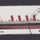 GB QEII Stamp. 1969 Ships 1/- RMS Mauretania MFU SG783 Mauritron #78197