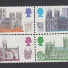 GB QEII Stamp. 1969 Cathedrals 5d BLK 4 UM SG796 to 799 Mauritron #78217