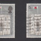 GB QEII Stamp. 1969 Prince Charles 5d x 2 MFU SG802 Mauritron #78229