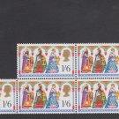 GB QEII Stamp. 1969 Christmas 1/6 BLK 5 UM SG814 Mauritron #78289