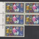 GB QEII Stamp. 1969 Christmas 5d BLK 5 UM SG813 Mauritron #78290