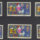 GB QEII Stamp. 1969 Christmas 5d Set 6 MFU SG813 Mauritron #78293