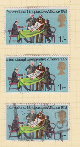 GB QEII Stamp. 1970 Anniversaries 1/- MFU Set of 3 SG821 Mauritron #78307