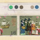 GB QEII Stamp. 1970 Anniversaries 1/6d Pair MFU SG822 Mauritron #78310