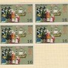 GB QEII Stamp. 1970 Anniversaries 1/6d BLK 5 UM SG822 Mauritron #78311