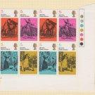 GB QEII Stamp. 1970 Literary 5d Corner BLK 8 UM SG824 to 827 Mauritron #78313