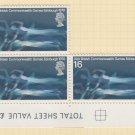 GB QEII Stamp. 1970 Games 1/6d BLK 5 UM SG833 Mauritron #78322