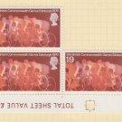 GB QEII Stamp. 1970 Games 1/9d BLK 5 UM SG834 Mauritron #78323