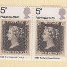 GB QEII Stamp. 1970 Philympia 5d BLK 2 UM SG835 Mauritron #78324