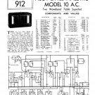 Pilot Little Maestro 10 AC Schematics Circuits Service Sheets