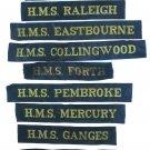 Royal Navy Cap Tally Collection 9 Short Mauritron #79117