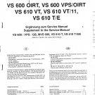 Grundig VS610 VT Video Recorder Service Manual PDF download.
