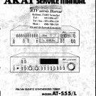 Akai AMU55J Audio Equipment Service Manual PDF download.