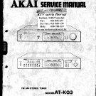 Akai ATVO4 Audio Equipment Service Manual PDF download.