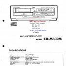 Akai CDM830M Audio Equipment Service Manual PDF download.