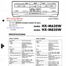 Akai HXM630W Audio Equipment Service Manual PDF download.