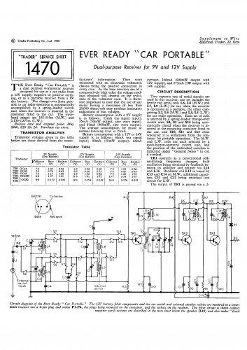 Ever Ready C-E. Vintage Wireless Service Sheets PDF download.