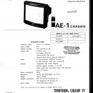 Sony AE1 CHASSIS Television Service Manual PDF download.