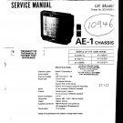 Sony KVM2511U Television Service Manual PDF download.