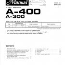 Pioneer A400  AMPLIFIER Service Manual PDF download.