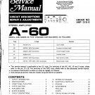 Pioneer A60  AMPLIFIER Service Manual PDF download.