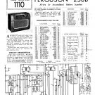 Ferguson 258B Vintage Audio Service Schematics PDF download.