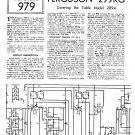 Ferguson 289A Vintage Audio Service Schematics PDF download.