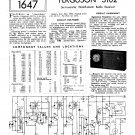 Ferguson 3102 Vintage Audio Service Schematics PDF download.