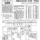 Ferguson 3128 Vintage Audio Service Schematics PDF download.