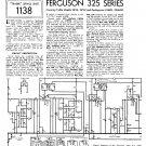 Ferguson 325 Vintage Audio Service Schematics PDF download.
