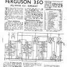 Ferguson 350 Vintage Audio Service Schematics PDF download.