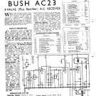 Bush AC23 Vintage Wireless Service Schematics PDF download.