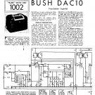 Bush DAC10 Vintage Wireless Service Schematics PDF download.