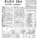 Bush SB4 Vintage Wireless Service Schematics PDF download.