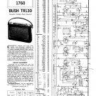 Bush TR130 Vintage Wireless Service Schematics PDF download.