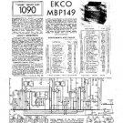 EKCO MBP149 Equipment Service Information by download #90204