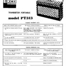 EKCO PT313 Equipment Service Information by download #90229