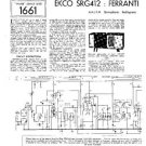 EKCO SRG412 Equipment Service Information by download #90264