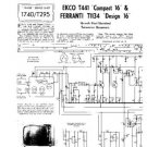 EKCO T1134 Equipment Service Information by download #90282