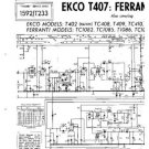 EKCO T407 Equipment Service Information by download #90319